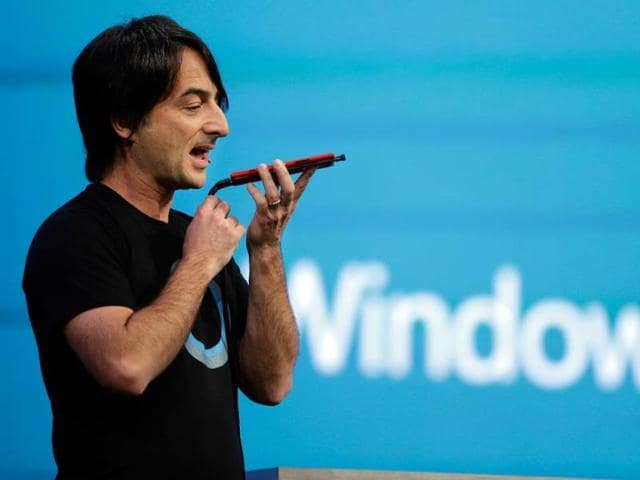 Microsoft-corporate-vice-president-Joe-Belfiore-of-the-Operating-Systems-Group-demonstrates-the-new-Cortana-personal-assistant-during-the-keynote-address-of-the-Build-Conference-in-San-Francisco-Photo-AP-Eric-Risberg