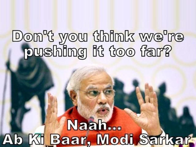Modi-fied: memes, tweets make most of BJP's Ab ki baar Modi sarkar