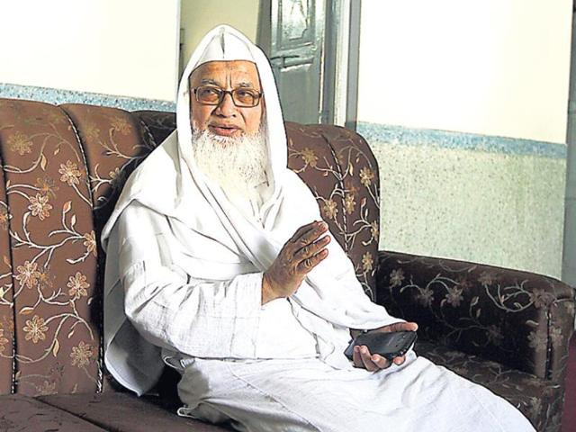 Mufti-Abul-Qasim-Nomani-vice-chancellor-Darul-Uloom-Deoband-at-his-office-Virendra-Singh-Gosain-HT-Photo
