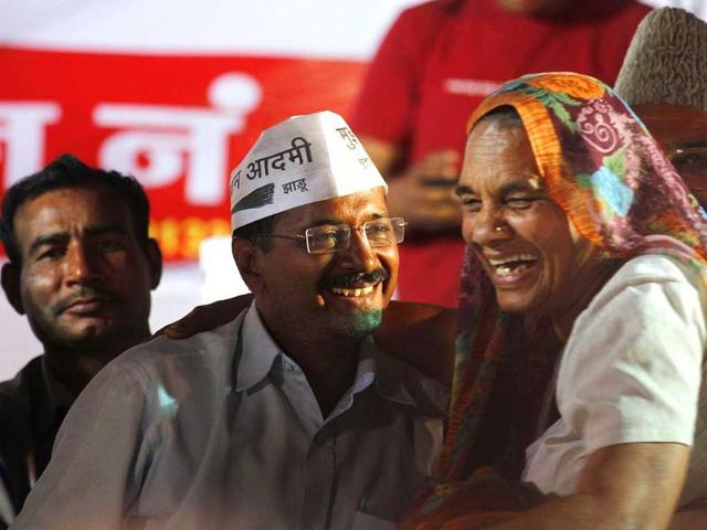 Aam-Adami-Party-leader-Arvind-Kejriwal-during-an-publice-meeting-at-Maujpur-northeast-constituency-in-New-Delhi-Virendra-Singh-Gosain-HT-Photo