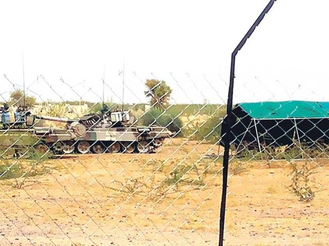 Manvendra-Singh-s-under-construction-house-in-Barmer-is-fenced-off-by-the-army-HT-Photo