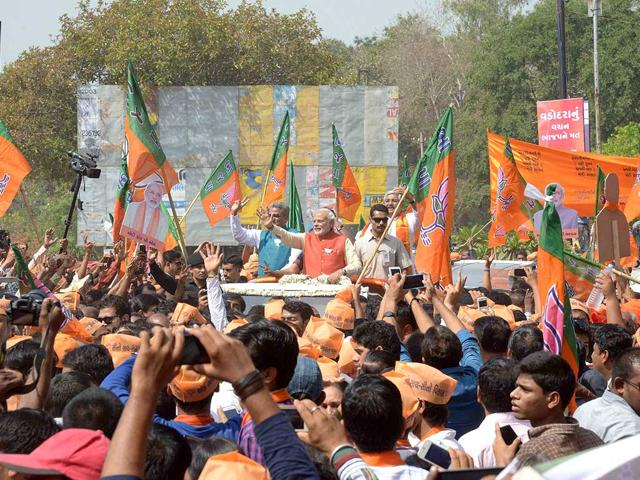 BJP-Prime-Ministerial-candidate-Narendra-Modi-addresses-a-public-rally-in-Lakhimpur-Shadab-Raza-HT-photo