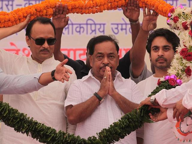 The-downslide-for-Congress-leader-Narayan-Rane-began-with-the-defeat-of-his-son-Nilesh-in-the-Lok-Sabha-election-Satish-Bate-HT-photo