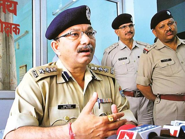 Dehradun-SSP-Ajay-Rautela-addresses-a-press-conference-after-a-man-died-in-police-custody-in-Dehradun-HT-File-Photo