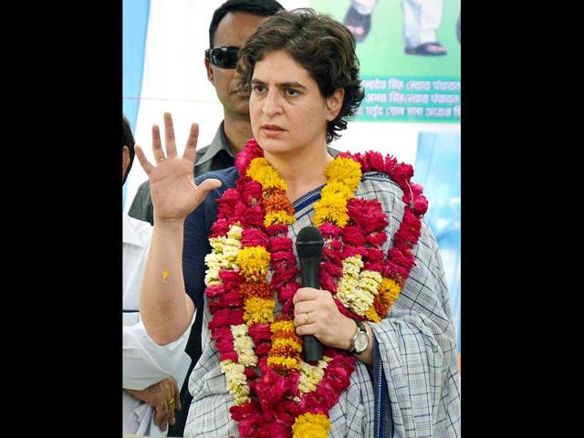 Priyanka-Vadra-meets-women-during-election-campaign-for-her-mother-and-Congress-President-Sonia-Gandhi-in-Raebareli-PTI-Photo