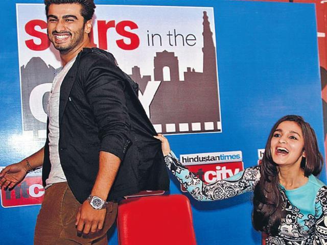 Arjun-Kapoor-and-Alia-Bhatt-promote-2-States-at-HT-House