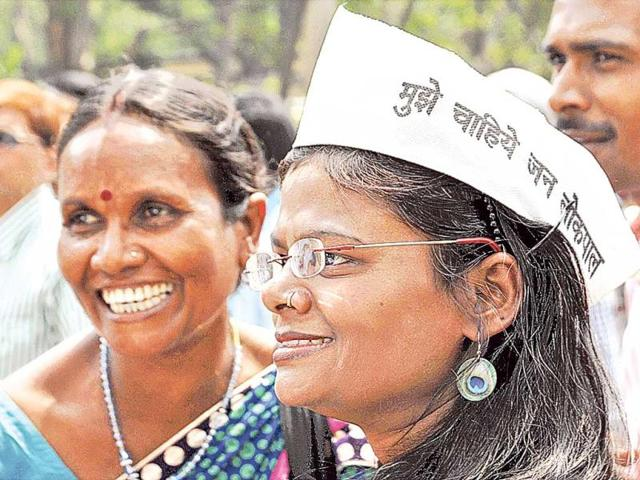 AAP-activists-at-an-earlier-rally-in-Dhanbad-HT-File-Photo
