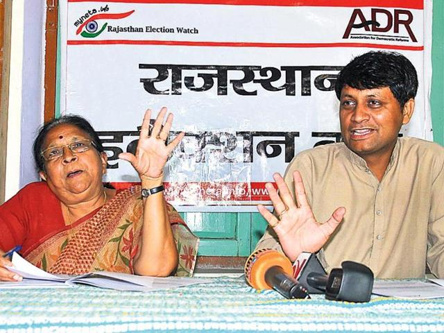 Association-for-Democratic-Reforms-and-Rajasthan-Election-Watch-officials-in-Jaipur-on-Sunday-Prabhakar-Sharma-HT-Photo