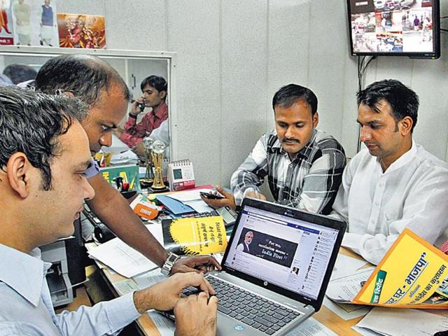 A-photo-of-the-vast-organisational-apparatus-that-allows-BJP-s-call-centre-and-booth-level-workers-to-provide-independent-inputs-to-the-party-s-PM-candidate-s-office-every-night--HT-photo