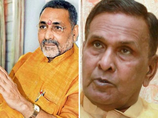 A-combination-photo-of-Union-steel-minister-Beni-Prasad-Verma-R-and-BJP-leader-Giriraj-Singh-PTI-Photo