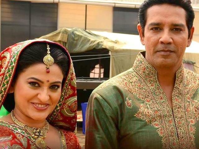 Actors-Anup-Soni-and-Smita-Bansal-who-play-couple-Bhairon-and-Sumitra-Singh-in-Balika-Vadhu