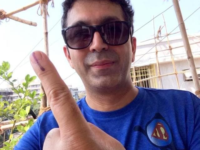Filmmaker Kunal Kohli posted his selfie after casting vote in Mumbai.
