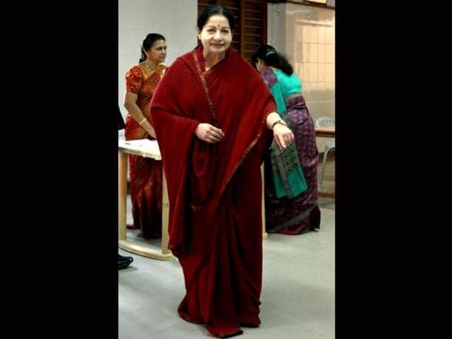 File-photo-of-All-India-Anna-Dravida-Munnetra-Kazhagam-AIADMK-leader-and-chief-minister-of-Tamil-Nadu-Jayalalithaa-AFP-Photo