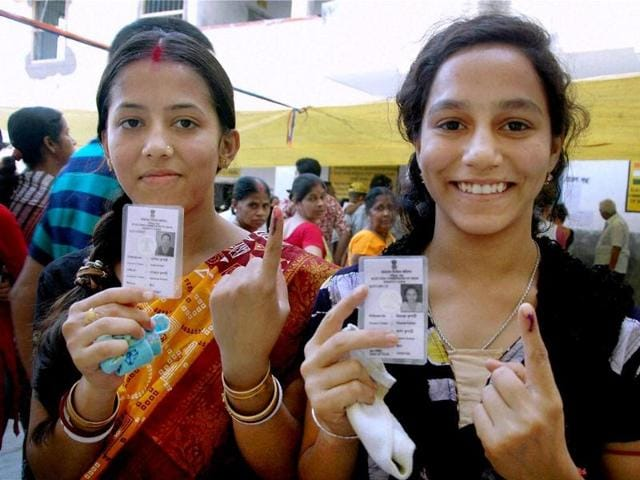 First-time-voters-shows-their-inked-fingers-after-casting-votes-at-a-polling-booth-in-Murshidabad-West-Bengal-PTI-photo