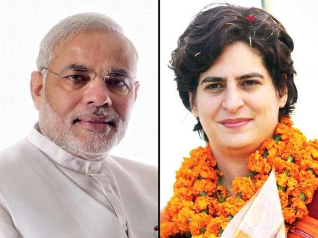 A-combination-photo-shows-BJP-s-prime-ministerial-pick-Narendra-Modi-and-Priyanka-Gandhi-Vadra-Agencies