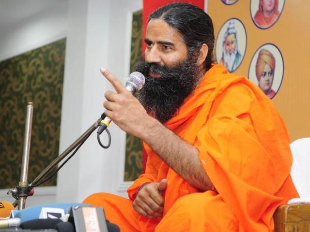 Yoga-guru-Ramdev-addresses-a-press-conference-in-Lucknow-HT-photo-Deepak-Gupta
