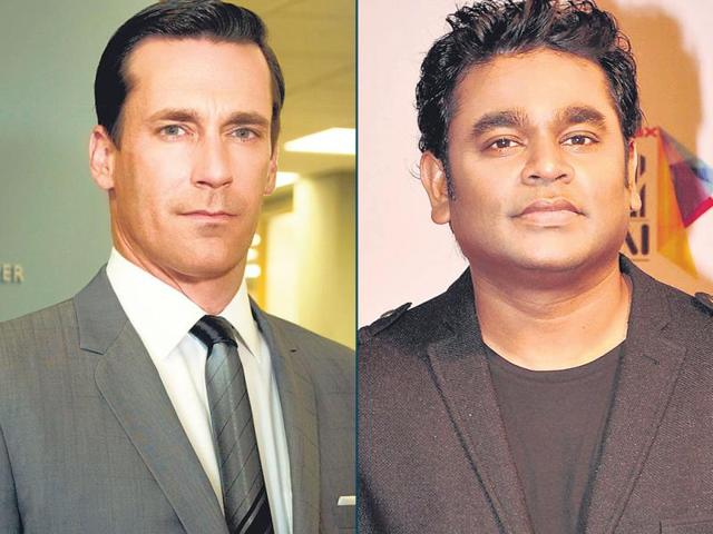 A-combo-picture-of-music-composer-AR-Rahman-and--Mad-Men-actor-Jon-Hamm