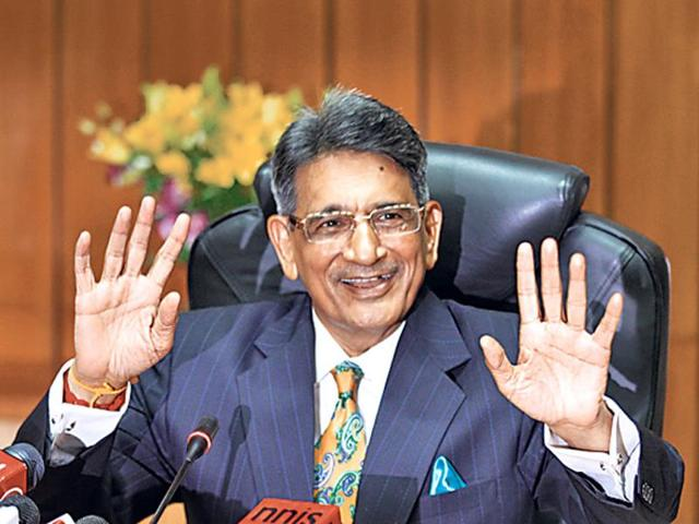 A-photo-of-Chief-Justice-of-India-Rajendra-Mal-Lodha-during-a-press-conference-after-his-swearing-in-ceremony-at-the-Supreme-Court-in-New-Delhi-Arvind-Yadav-HT-photo