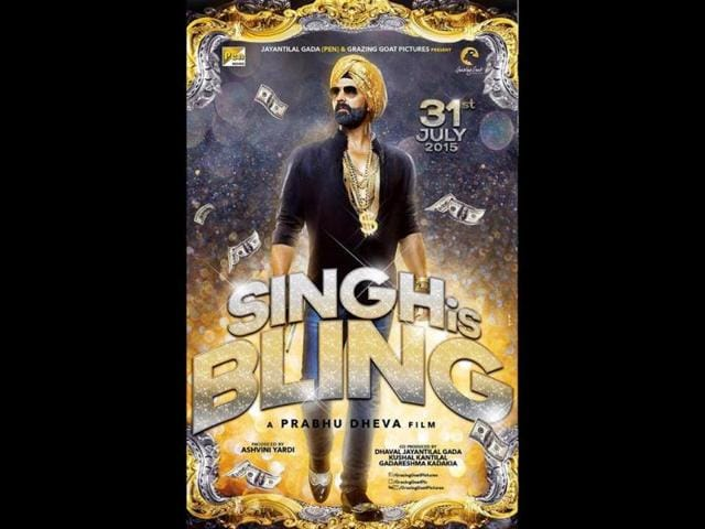 A poster of Singh is Bling.