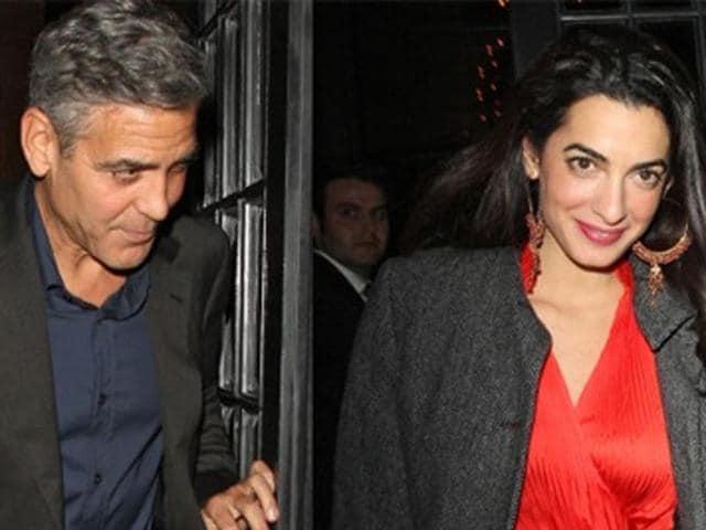 George Clooney,Amal Alamuddin,London
