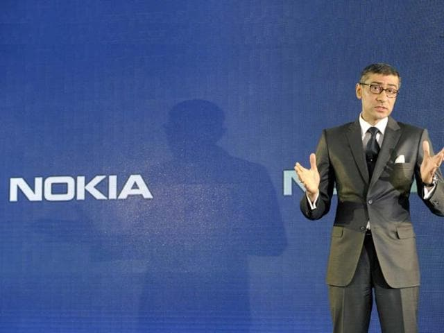 The-designated-President-and-Chief-Executive-Officer-of-Nokia-Rajeev-Suri-speaks-during-the-press-conference-announcing-the-company-s-first-quarter-results-in-Espoo-Finland-AFP-Photo