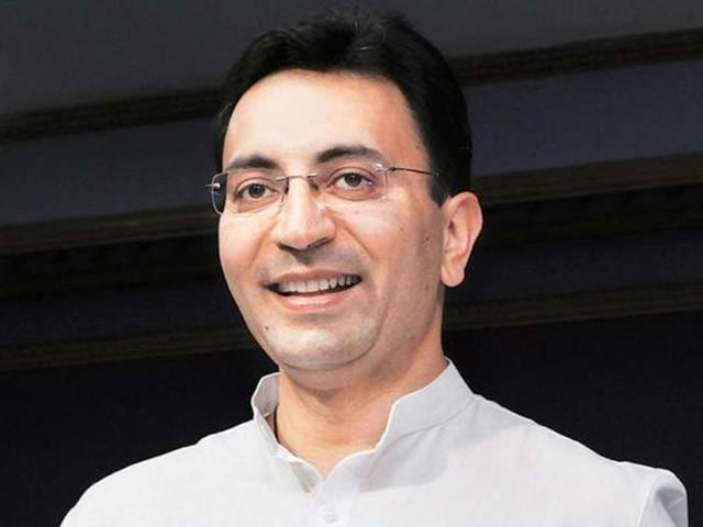 A file photo of Jitin Prasada, minister of state, defence and human resource development. (HT photo)