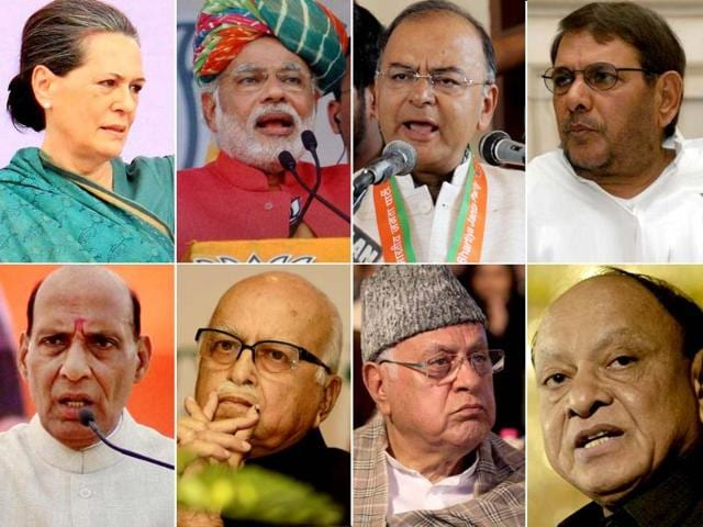 A combination picture of eight key candidates in the fray for the Lok Sabha elections, phase 7. (Agencies)