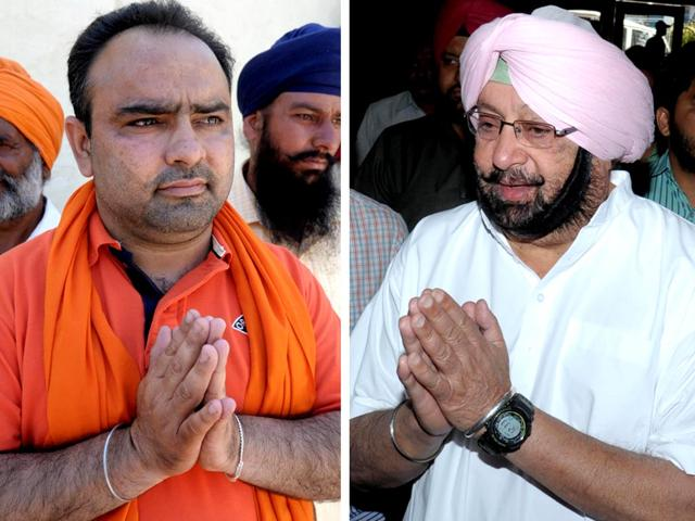 This-combination-of-photos-shows-Independent-candidate-for-Amritsar-Amarinder-Singh-as-he-campaigns-in-the-village-of-Chogawan-L-and-former-Punjab-CM-and-Congress-candidate-Amarinder-Singh-as-he-greets-supporters-during-an-election-campaign-AFP-Photo