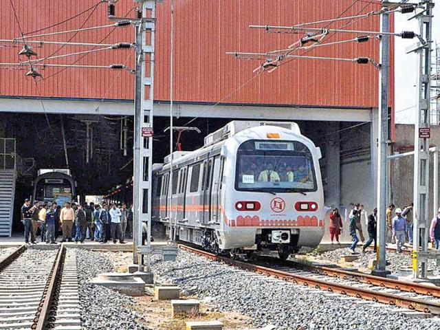 A-Metro-train-during-safety-trial-on-the-track-HT-File-Photo