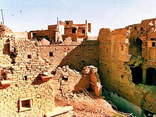At-present-the-Sonar-Fort-in-Jaisalmer-is-in-a-dilapidated-state-HT-Photo