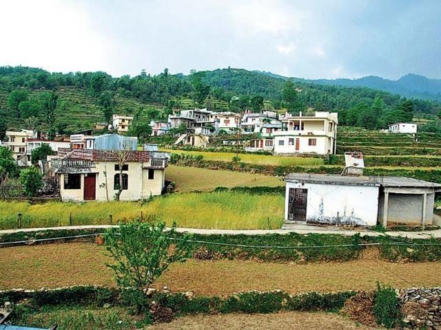 A-view-of-Devli-village-in-Rudraprayag-district-Vinay-Santosh-Kumar-HT-Photo