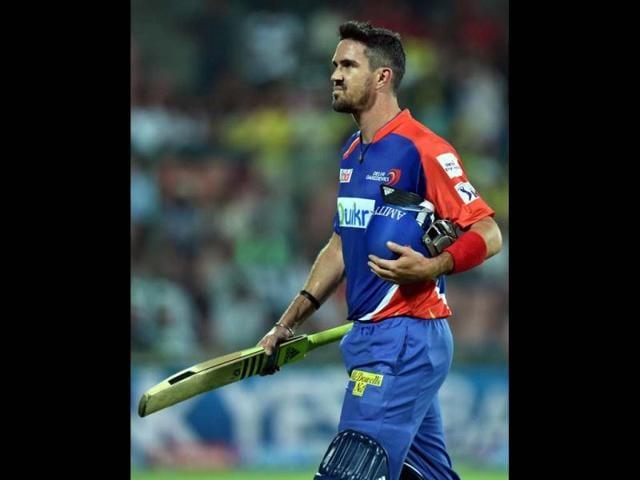 Delhi-Daredevils-captain-Kevin-Pietersen-walks-back-after-being-clean-bowled-during-their-IPL-7-match-against-Chennai-Super-Kings-at-Ferozshah-Kotla-in-New-Delhi-PTI-Photo