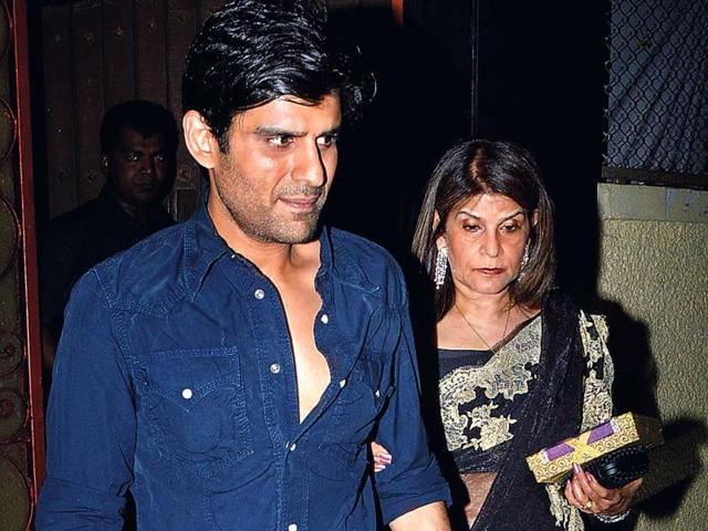 Ravi Chopra's wife Renu (right) with son Kapil were also spotted at Chopra