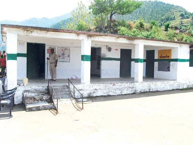 The-desolate-polling-booth-in-Tunetha-village-where-no-villager-queued-up-for-polling-HT-Photo