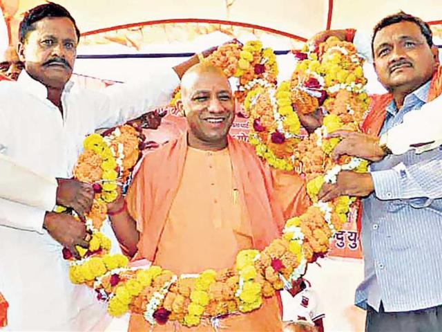 Gorakhnath-math-s-chief-priest-Mahant-Adityanath-is-set-to-fight-the-Gorakhpur-seat-on-his-own-charisma-HT-photo