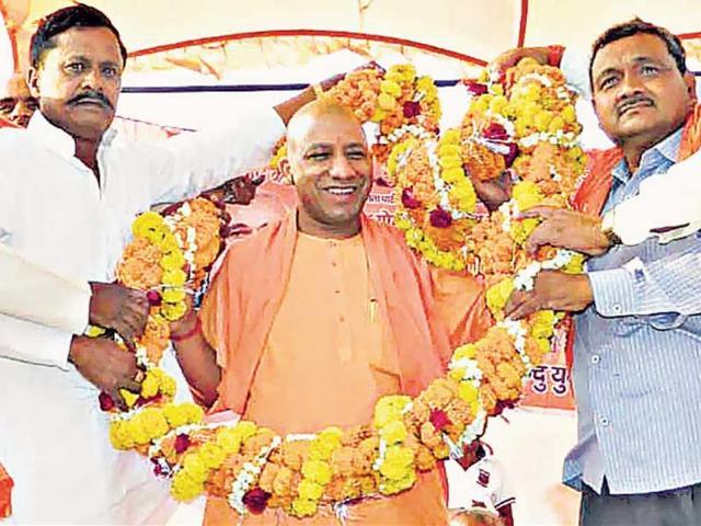 Gorakhnath-math-s-chief-priest-Mahant-Adityanath-is-set-to-fight-the-Gorakhpur-seat-on-his-own-charisma-HT-photo