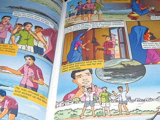 Comic-book-Bal-Narendra-has-real-life-stories-from-Narendra-Modi-s-childhood-HT-Photo