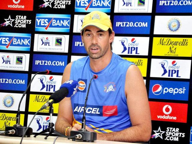 Chennai-Super-Kings-coach-Stephen-Fleming-addresses-a-press-conference-at-JSCA-stadium-in-Ranchi-PTI-Photo