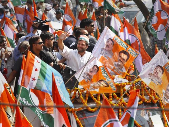 Congress-Vice-President-Rahul-Gandhi-road-show-in-supports-for-congress-candidate-Ajay-Rai-in-Varanasi-HT-Photo-Ajay-Aggarwal