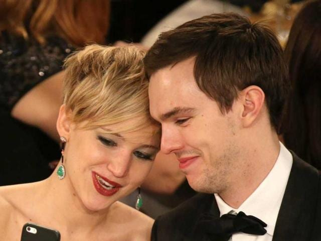 Jennifer-Lawrence-with-her-co-star-and-off-screen-boyfriend-Nicholas-Hoult-AP