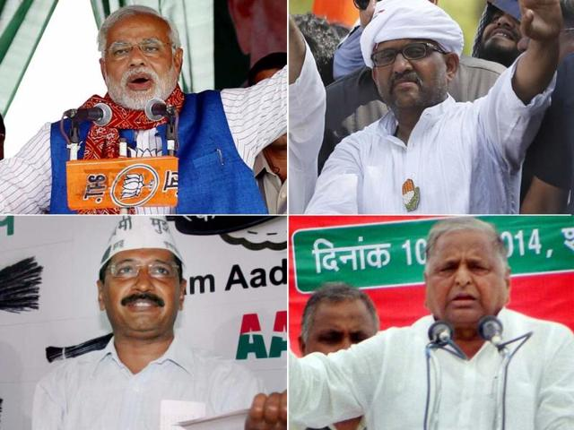 A combination picture of the key candidates in the fray for the ninth and last phase of the LS polls. (Agency Photo)