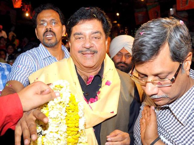 WON: actor Shatrughan Sinha, Bharatiya Janata Party (BJP) candidate for Patna parliamentary seat, during the campaign trail. (AFP)
