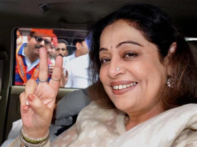 WON: actor Kirron Kher is a BJP candidate from Chandigarh. (Agency)