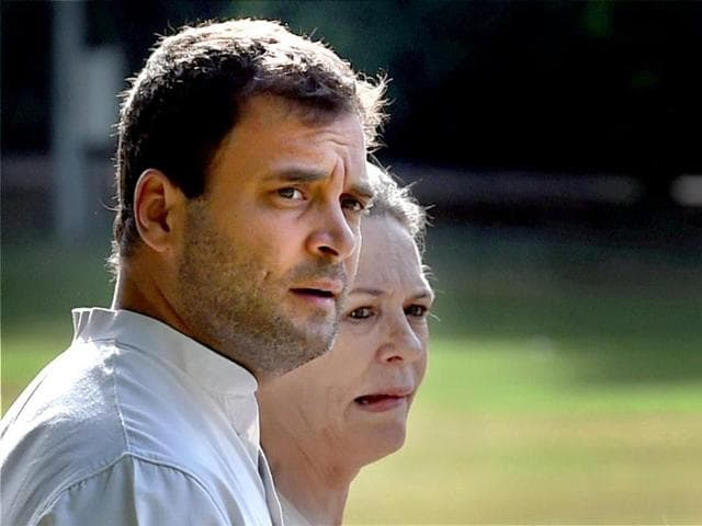 Congress-president-Sonia-Gandhi-with-party-vice-president-Rahul-Gandhi-before-a-CWC-meeting-at-party-headquarters-in-New-Delhi-PTI-photo