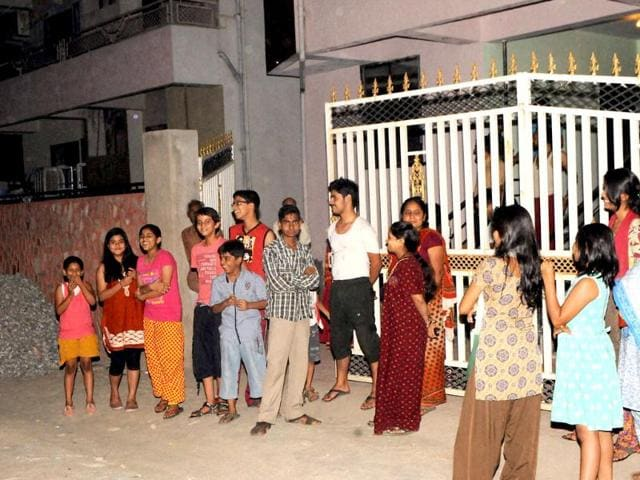 People-rush-out-from-their-homes-as-a-mild-earthquake-hits-Ranchi-on-Wednesday-night-PTI-photo