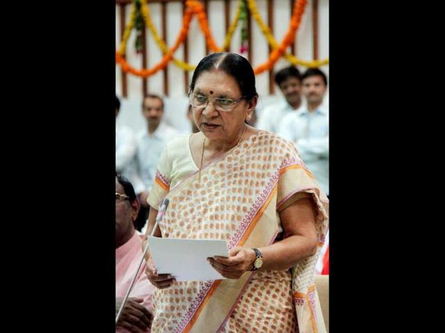 A-photo-of-newly-elected-chief-minister-of-Gujarat-Anandiben-Patel-speaking-during-a-special-session-of-the-state-Assembly-in-Gandhinagar-PTI-photo