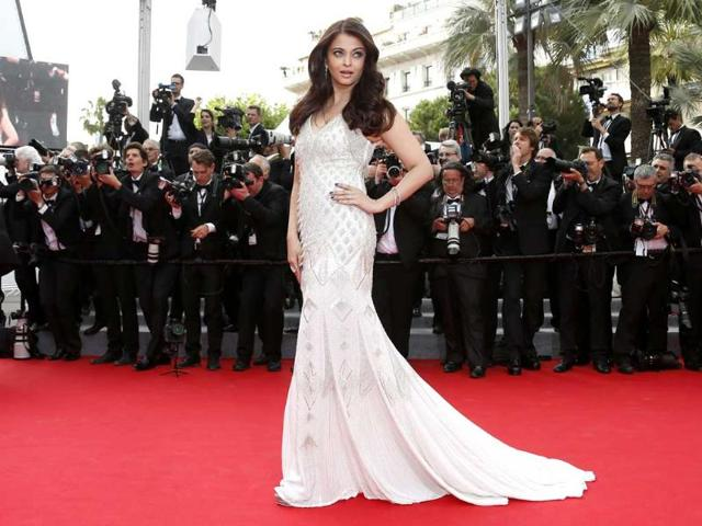 Aishwarya Rai Bachchan followed up her golden girl turn on the Cannes red carpet with another stunning gown.