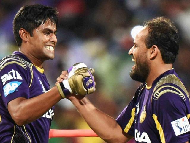 KKR-batsman-Yusuf-Pathan-celebrates-the-win-against-Sunrisers-Hyderabad-in-their-IPL-7-match-at-Eden-Garden-in-Kolkata-PTI-Photo