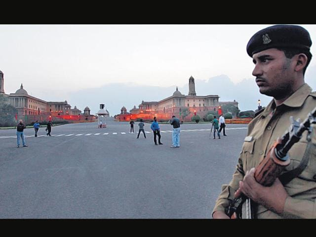 A-security-personnel-keeps-guard-Arvind-Yadav-HT-File-Photo