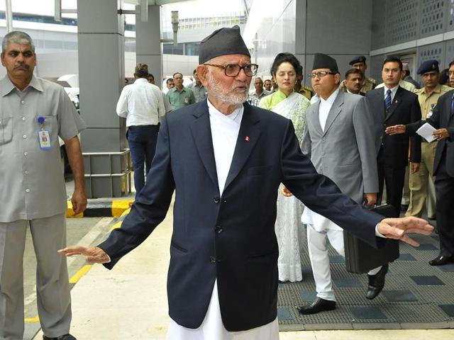 Sushil-Koirala-Prime-Minister-of-Nepal--arrives-at-Ceremonial-Lounge-at--IGI-Airport-Terminal-3-to-attend-the-swearing-in-ceremony-of-Narendra-Modi-as-Prime-Minister-in-New-Delhi-on-Monday-Photo-by-Vipin-Kumar-Hindustan-Times